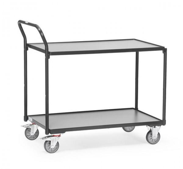 Tischwagen 850x500 mm, anthrazit 300 kg Tragkraft,
