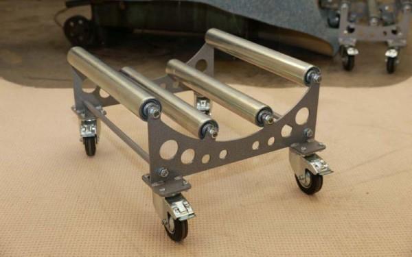 Teppich- & PVC-Transportwagen, 250 kg Tragkraft, für Rollen Ø 80 cm