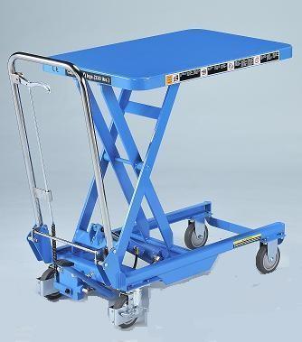 Hubtischwagen BISHAMON, klappbar 150 kg Tragkraft, 700x450 mm Ladefläche