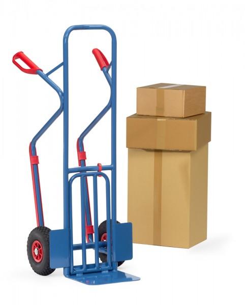 Paketkarren klappbare Schaufel, 320x250 mm, 300 kg Tragkraft, Höhe 1300 mm, mit Gleitkufen