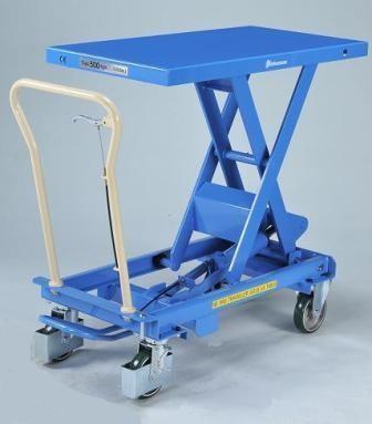 Hubtischwagen BISHAMON 800 kg Tragkraft, 1010x520 mm Ladefläche