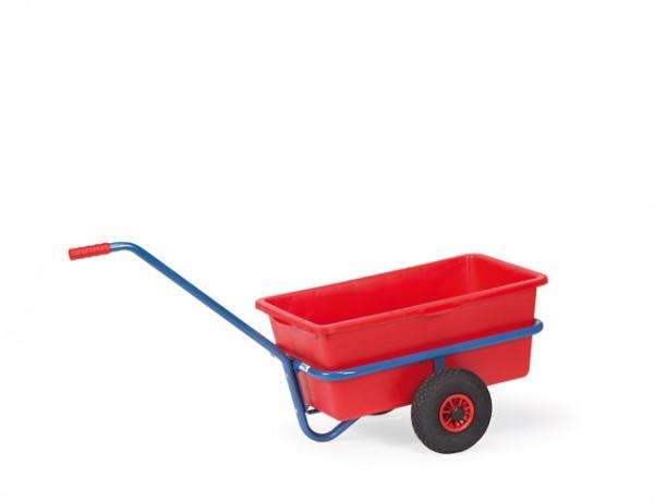Leichter Handwagen 700x400 mm, 200 kg Tragkraft, mit Kunststoffmulde