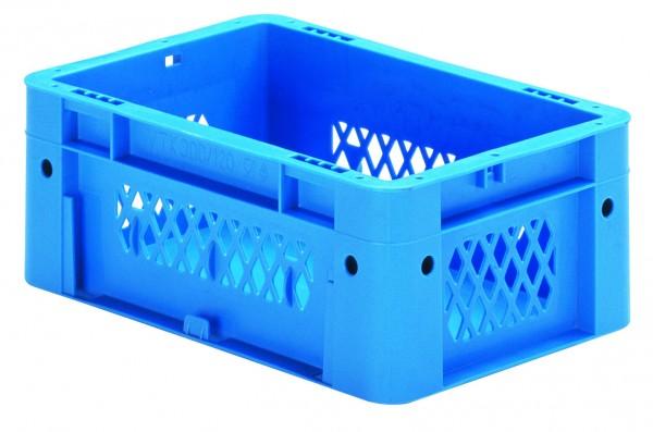 Schwerlast-Stapelkästen blau VTK 300/120-1 (PP), Wände durchbrochen Boden geschlossen, VE = 8 Stück