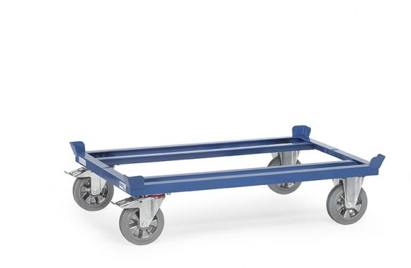 Paletten-Fahrgestelle 1200 kg Tragkraft, 800x600 mm, Elastic-Vollgummi