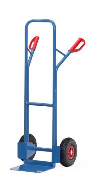 Stahlrohrkarren Vollhummi, 300 kg Tragkraft, 320x250 mm Schaufel, durchgebogen