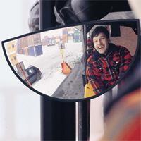Stapler-Spiegel 180º-Sichtwinkel, aus Acrylglas