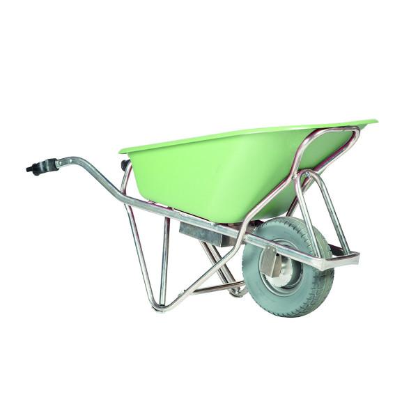 Elektro-Schubkarre E-PROFIMAX, Tragkraft 250 kg, 90 Liter Inhalt, pannensichere Reifen, HDPE-Mulde
