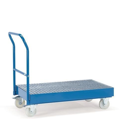 Fasswagen mit Gitterrost, 400 kg Tragkraft, 1000 x 600 mm Ladefläche, für 1-2 200-Liter-Fässer