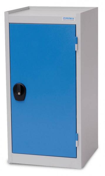 Flügeltürschrank 500x500x1000 mm, 2 Fachböden, 1 Schublade, Abrollrand - unser Bestseller -
