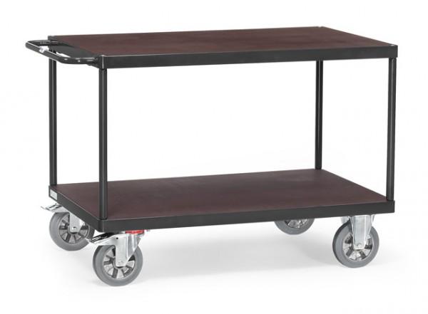 Extra Schwerer Tisch- und Montagewagen, 1000x700 mm, anthrazit, 1200 kg Tragkraft, rechteckig