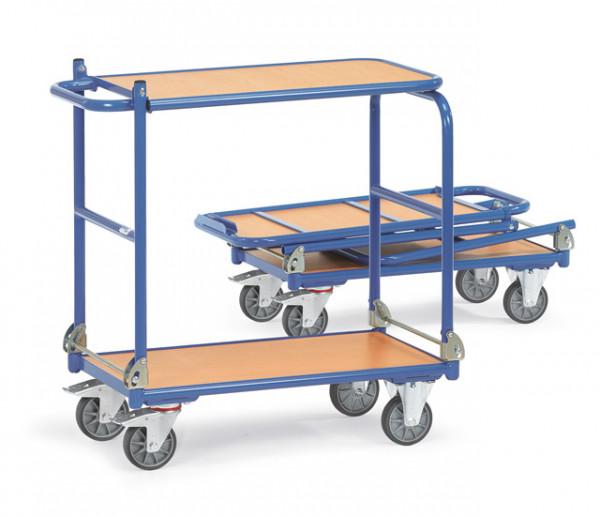 Klappwagen mit Tischplattform 900x600 mm, 250 kg Tragkraft, 2 Etagen