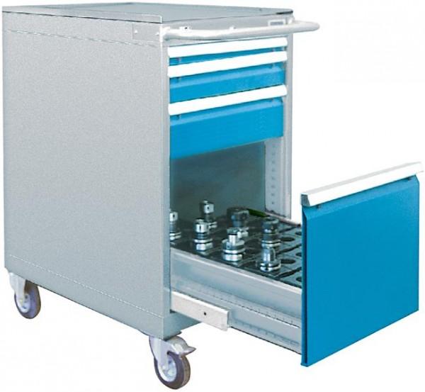 CNC Schubladenschrank 555x736x1005 mm, fahrbar, 4 Schubladen, inkl. 1 Schubladenrahmen