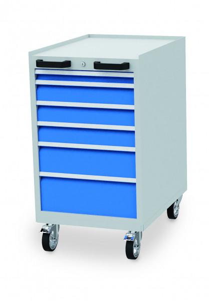 Schubladenschrank 555x736x990 mm, 6 Schubladen, 500 kg Tragkraft, fahrbar