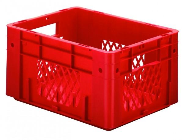 Schwerlast-Stapelkästen rot VTK 400/210-1 (PP), Wände durchbrochen Boden geschlossen, VE = 4 Stück