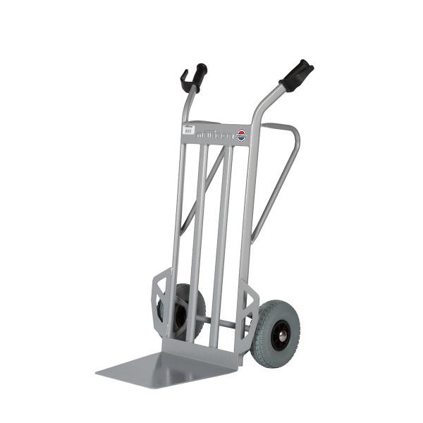 Transportkarren 350 kg Tragkraft, zusätzliche Abstellfüße, Pannensicherer Reifen