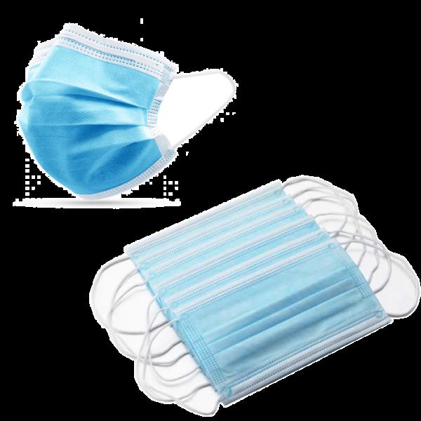 20 Stück Mund - Nasenmasken - 3-lagig, medizinisches Vliesmaterial, elastische Ohrbänder