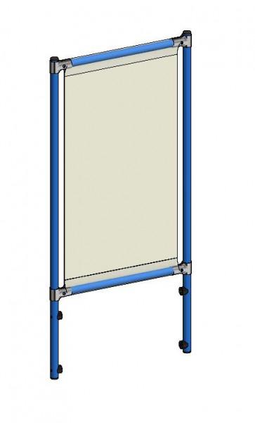 Infektionsschutzrahmen 571x49x1195 mm, Anbausatz, PVC Klarsichtfolie glasklar