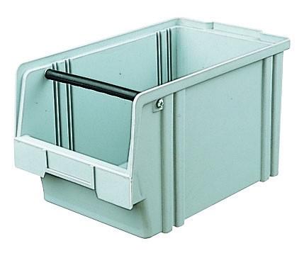 Sichtlagerkästen LK 2a grau 350x200x200 mm, aus Polystyrol (PS), stapelbar, VE = 10 Stück