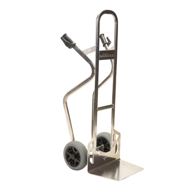 Alu-Stapelkarre pannensicher, 350 kg Tragkraft, Schaufel 450x3000 mm, Höhe 1367 mm