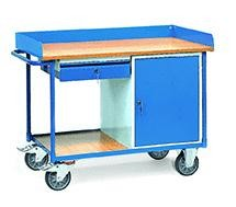 Werkstattwagen mit Schrank und Schublade, 400 kg Tragkraft, 1120x650 mm