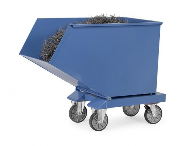 Muldenkipper 800 Liter, 800 kg Tragkraft, Lenk- und Bockrollen