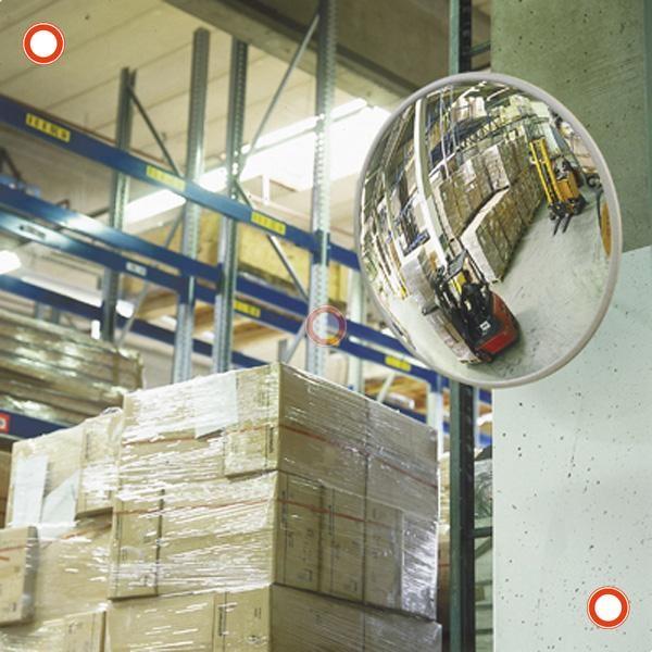 Beobachtungs- und SPION-Spiegel Ø 700, 9 Meter Abstand, aus Acrylglas für innen + außen