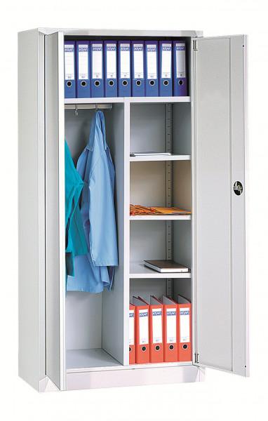Universalschrank, 920 mm breit, 2 Türen abschließbar, mit Sockel, 1800x800x380 mm