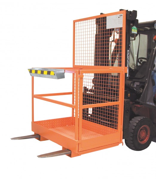 Arbeitsbühne MB-II für Stapler, Aufnahme quer und längs für 2 Personen, 300 kg Tragkraft