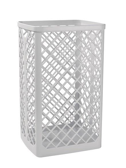 Abfallkorb für Desinfektionstücher, 40 Liter Volumen, weiß, freistehend oder Wandmontage,