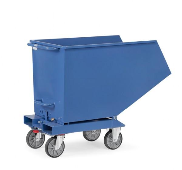 Muldenkipper mit Deckel 800 Liter 800 kg Tragkraft, Lenk- und Bockrollen