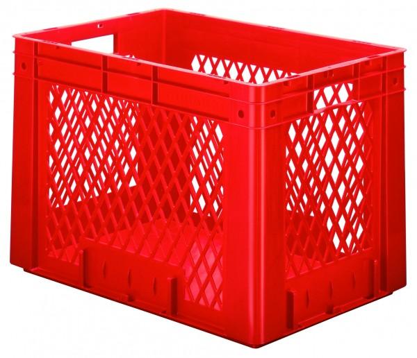 Schwerlast-Stapelkästen rot VTK 600/420-1 (PP), Wände durchbrochen Boden geschlossen, VE = 2 Stück