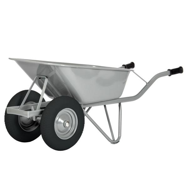 Schubkarre Doppel-Reifen, 80 ltr., 200 kg Tragkraft Luftbereifung