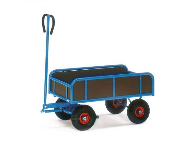 Handwagen 945x545mm, 4 Wände, 400 kg Tragkraft, Luft-Bereifung
