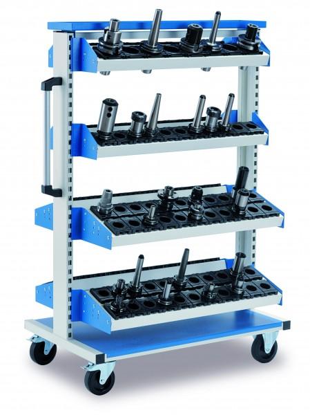 CNC Bestückungswagen 990x610x1450 mm, fahrbar, incl. 8 Aufnahmeträger (WAbg) +( WABk)