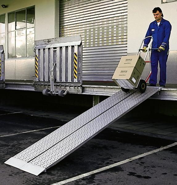 Verladeschienen, Tragkraft 650 kg/Paar, Breite 600 mm, Länge 2500 mm Aluminium