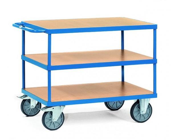 Schwerer Tisch- und Montagewagen 500 kg Tragkraft, 850x500 mm, 3 Etagen
