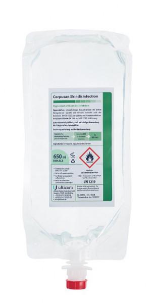"""Desinfektionsmittel CORPUSAN für Hände, 650 ml im Vakuumbeutel für Desinfektionsspender """"touchfree"""""""