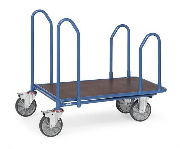 Cash- & Carrywagen mit Seitenbügeln, Tragkraft 500 kg, Ladefläche 1000 x 600 mm