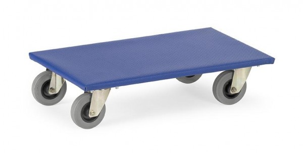 Möbelroller 250 kg Tragkraft, 600x300 mm, VE=2 STück, Vollgummiräder, - spurlos