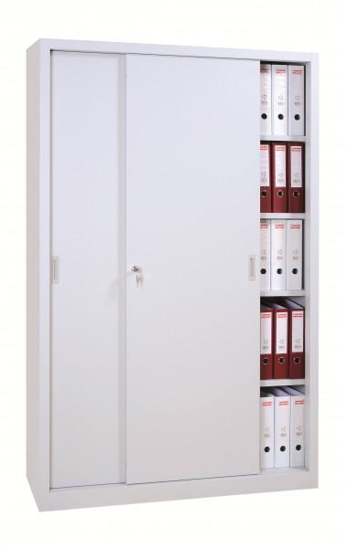Schiebetürschrank Breite 1200, Tiefe 450 mm, Höhe 1950 mm, 4 Fachböden - extra breit