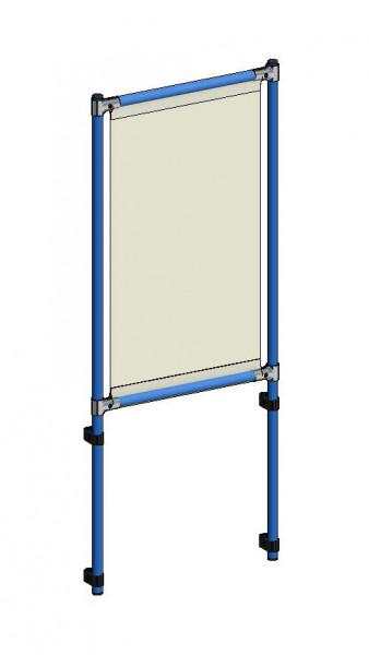 Infektionsschutzrahmen 571x49x1410 mm, Anbausatz, PVC Klarsichtfolie glasklar