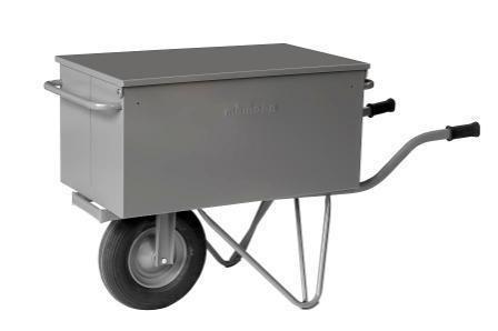 Werkzeug-Transportwagen mit Tragegriffen, Fußstützen, großes Luftrad