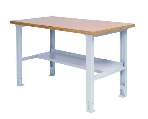 Arbeitstisch - Packtisch, 1500x750x859-1059 mm, höhenverstellbar, 200 kg Tragkraft