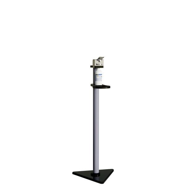 Desinfektionsständer BASIC, BÜGEL-Spender, 750 ml, Höhe 1320 mm