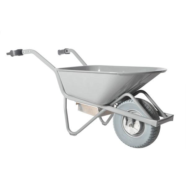 Elektro-Schubkarre E-PROFIMAX, Tragkraft 250 kg, 90 Liter Inhalt, pannensichere Reifen, Stahl-Mulde