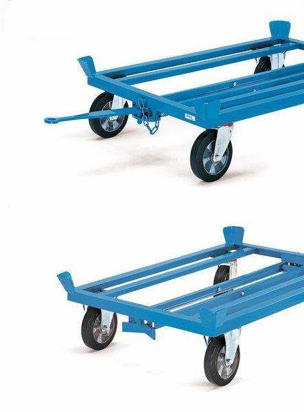 Deichsel und Kupplung für Paletten-Fahrgestelle bis 2000 kg