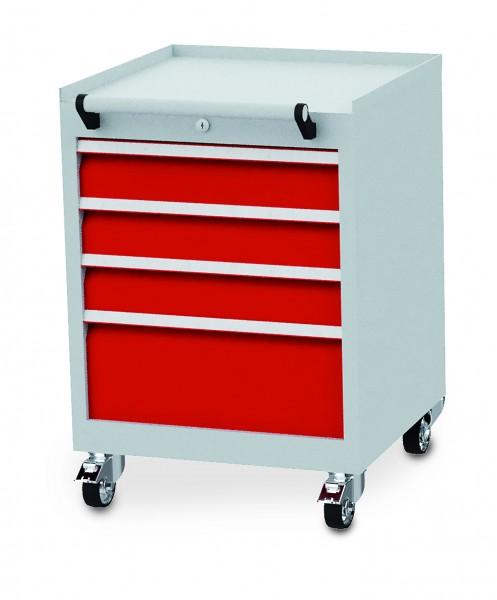Schubladenschrank fahrbar 530x500x750 mm, 300 kg Tragkraft, 4 Schubladen - Unser Bestseller -