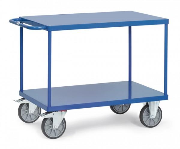 Tischwagen 1000x600 mm, 600 kg Tragkraft, Stahlblechplattform