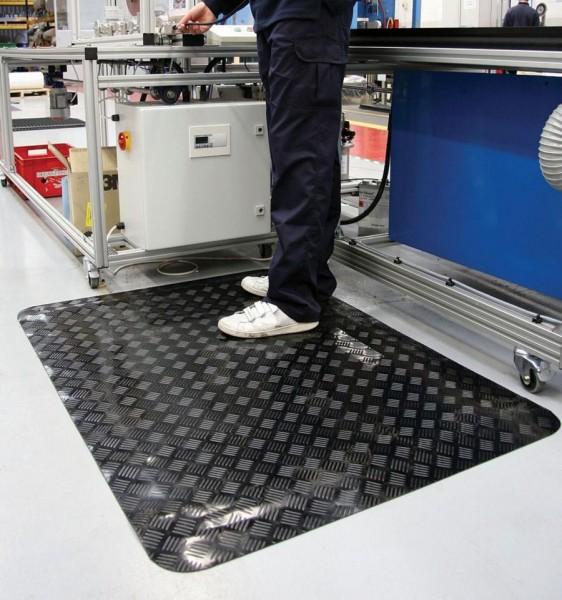 ESD- Industriematte, schwarz, 600 x 1000 mm