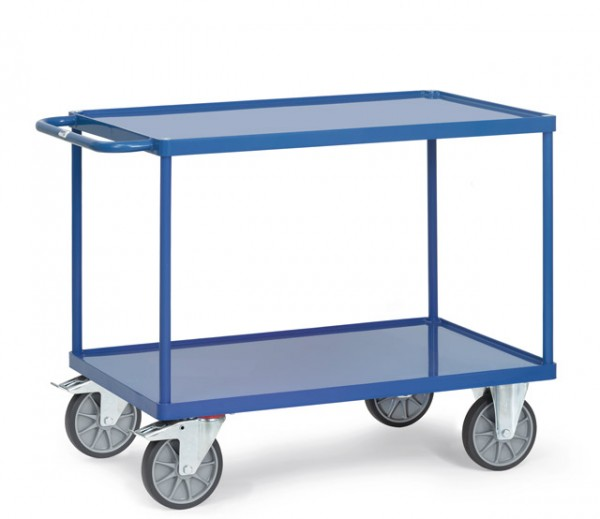 Tischwagen 850x500 mm, 500 kg Tragkraft, Stahlblechwannen